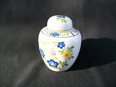 """Oriental Ginger Jar Small 5"""" floral lidded by Schmid Design Folio made in Japan"""