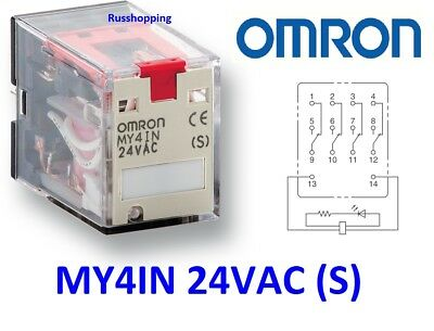 Omron 4x my4in1 5a 24vac 250vac Relais my4in1