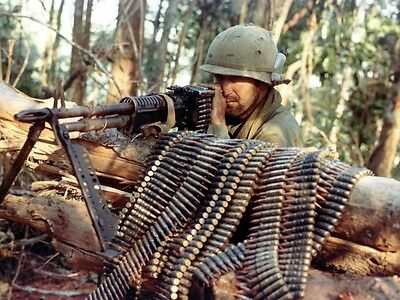 Color Vietnam War Photo, M-60 Machine Gun US Army