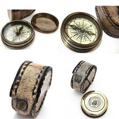 Robert Frost Poem Compass-Pocket Compass w Leather Case Made of Solid Brass.
