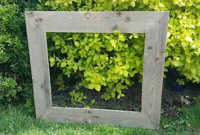 A4 Picture Canvas Photo Frame Rustic Reclaimed Wood Chunky Wedding Gift Shabby