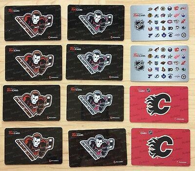 Lot 12 Tim Hortons Gift Card Hitmen NHL Calgary Flames