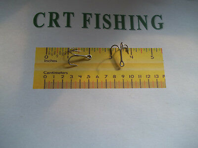 Curved//Forged 2X Eagle Claw 376AH-10 Treble Hook Size 10 1//4 oz