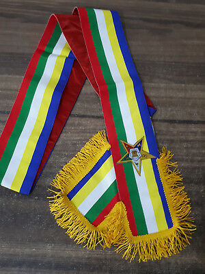Masonic Order Eastern Star Sash, OES SASHES, MASONIC SASHES MATRON SASH OES SASH