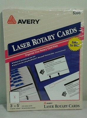 Avery 5386 Laser Rotary Cards 5386 3 x 5 150 Pack Genuine New Sealed