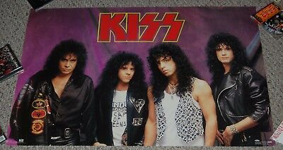 KISS Hot In The Shade 1990 Group Purple #8073 Poster Winterland Carr Simmons