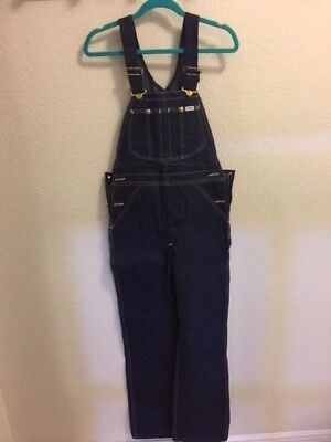 Vintage Lee Youth Authentic Dungarees &  Bib Overalls Denim Jeans Size 14 NOS