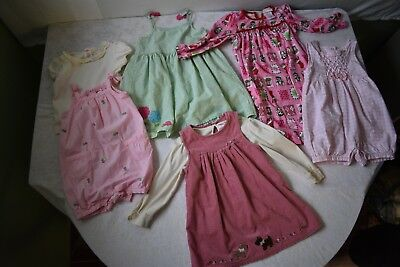7 Piece Lot Girls Clothes Size 2T Outfit Sets Jumper Dress Nightgown 19H