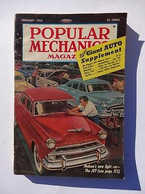 Vintage Popular Mechanics Magazine February 1953 Cars Ships Plane Ads Chevy Ford
