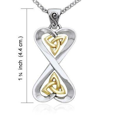 Danu Goddess Celtic Knotwork Sterling Silver Necklace Set by Peter Stone