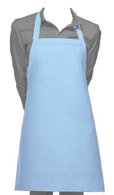 Cutest Ever Blue Vinyl Waterproof Apron Durable Ultra Lightweight Adjustable