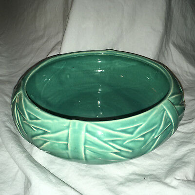 Mccoy Round Art Pottery Fruit Bowl or Planter,  Made in  USA