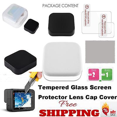 Clear Tempered Glass Screen Protector for GoPro Hero 5 Screen& Camera Lens Cover