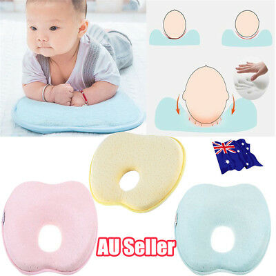 Baby Infant Newborn Memory Foam Pillow Prevent Flat Head Anti Roll Support HOT B