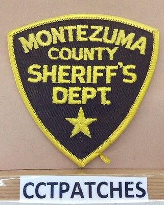 Montezuma County, Colorado Sheriff (Police) Shoulder Patch Co