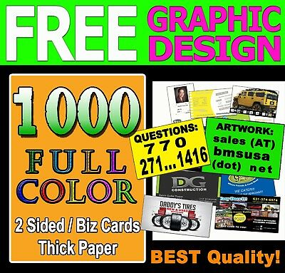 SPECIAL OFFER 1000 BUSINESS CARDS | 2 SIDES | UV Gloss - FREE GRAPHIC DESIGN!