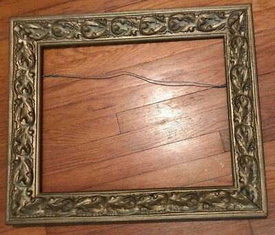 Antique Vintage Ornate Gold Gilt Gesso Wood Large Picture Frame 21 X 25
