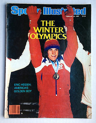February 25, 1980 Sports Illustrated - Eric Heiden THE WINTER OLYMPICS