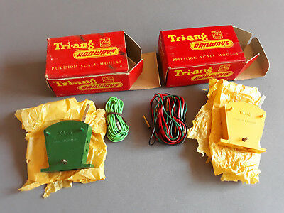Triang Tri-Ang Switch Units X 2 Excellent Condition Boxed Oo Gauge(Cb)