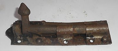 Vintage Door Sliding Barrel Bolt Cast Iron And Iron Made In India In2121