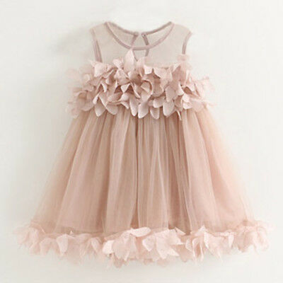 Toddler Baby Girl Princess Dress Kids Tulle Wedding Party Flower Girl Dresses