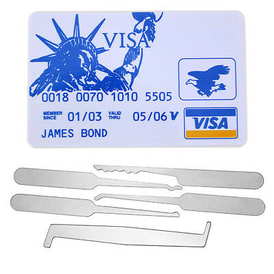 5pcs Statue of Liberty Card Unlocking Tools Set for Beginner Lock Opener Tools