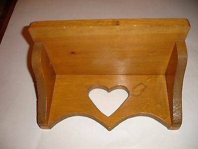 Vintage Solid Wood Small Wide Shelf