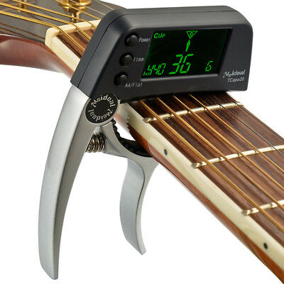 5 Colors Alloy Guitar Capo Tuner with LCD for Acoustic Folk Electric Guitar Bass