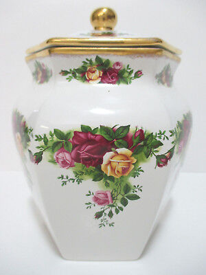 Royal Albert Old Country Roses Biscuit Jar - New