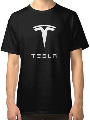 TESLA Logo Men's Black Tees T-Shirt Clothing