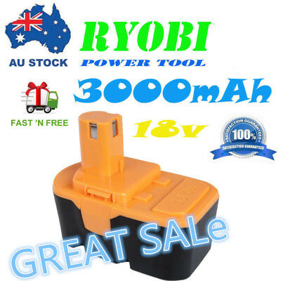 AU 18v 54W 3.0Ah For Ryobi One Plus P100 P101 Cordless Pack Replacement Battery