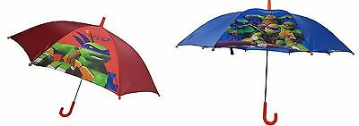 TOP Walt Disney Ninja Turtles Regenschirm Kinderregenschirm Umbrella Rot Blau .