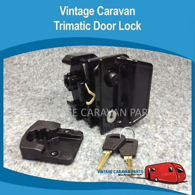 Caravan DOOR LOCK TRIMATIC  Vintage ( GENUINE ) Viscount Franklin D0120