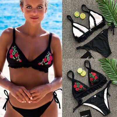 Sexy Women Bikini Set Push-up Swimsuit Swimwear Padded Bra Triangle Bathing Suit