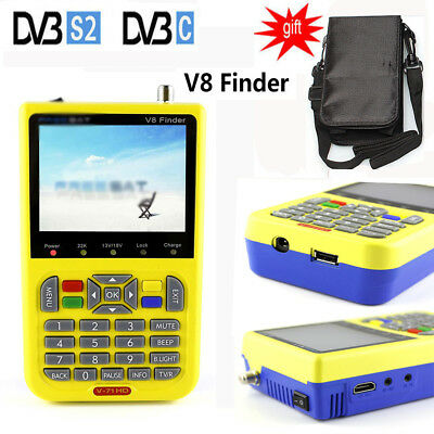 "Latest V8 DVB-S2 High Definition TV Satellite Finder MPEG-4/2 3.5"" LCD Display"