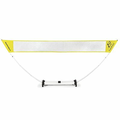 Portable Badminton Volleyball Tennis Net Stand Set 4 Players Outdoor Sport Games