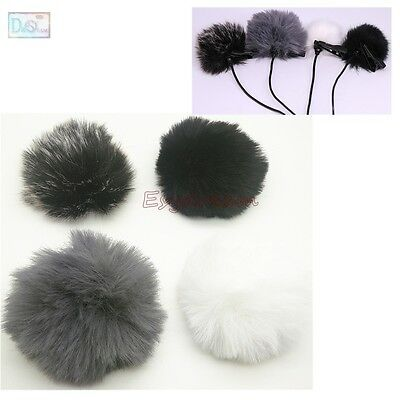 4PCS 1cm Outdoor Furry Cover Windscreen for Saramonic UwMic9 Wireless Microphone