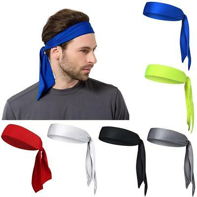 Stretch Head Tie Headband/Sports Sweatband Tennis Basketball Sweat Hair Band