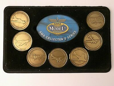Academy Model Aeronautics AMA Set of 7 Military Challenge Coins Display 02