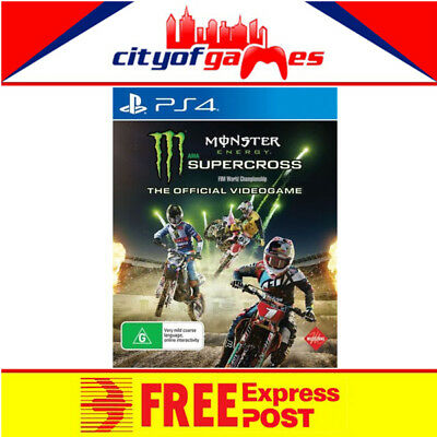 Monster Energy Supercross The Official Videogame PS4 Game New & Sealed In Stock