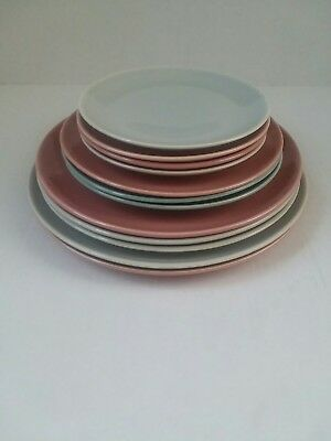 Harmony House  Symphony pastel plates bread butter dinner lunch pink grey aqua