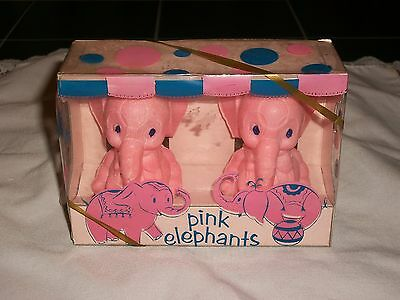 1960s Delagar USA Children's Pink Cicue Elephant Soaps in Original Package