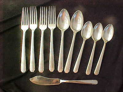 MIXED LOT Tudor Plate  SILVER PLATE FLATWARE Elaine 1926 10 PIECES