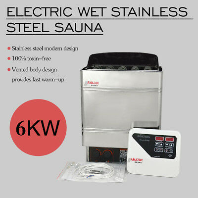 6KW 220V Stainless Steel Wet Dry Sauna Heater Stove External Digital Controller