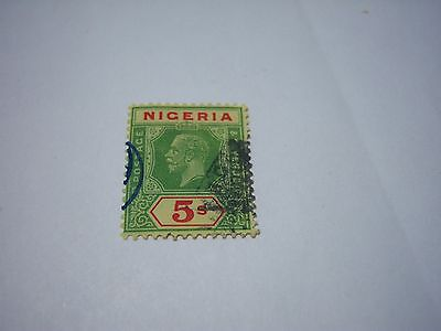 NIGERIA-USED-SCOTT#31-1926-5/-green&red/yellow-George5th-cv$75