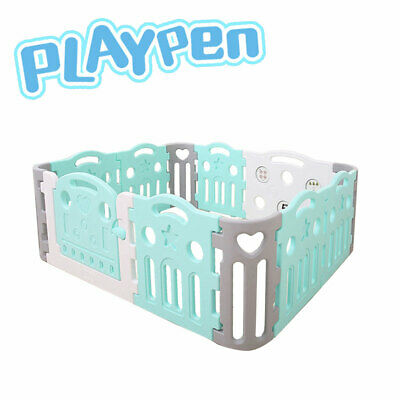 Premium Quality Baby Playpen Toddler Baby Safety Gate Room Green 182x150cm