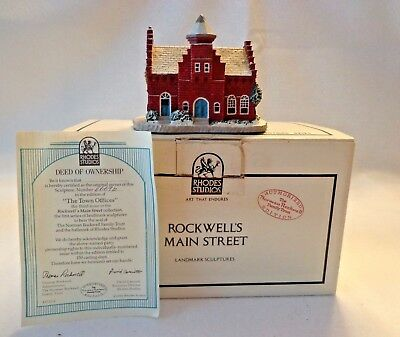 """Rhodes Studio """"town Offices"""",main St. Cllctn By Norman Rockwell, #4669D,coa,nib"""