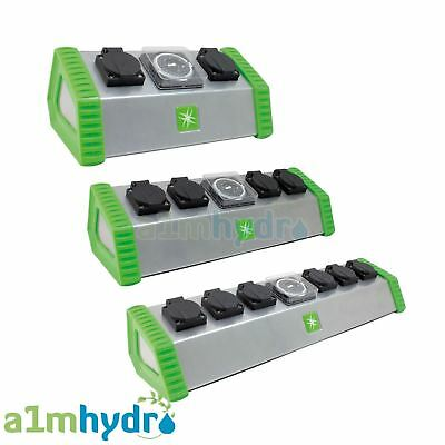 Lumii 2 - 4 - 6 Way 26A Contactor Relay Timer Switch For Grow Light Hydroponics