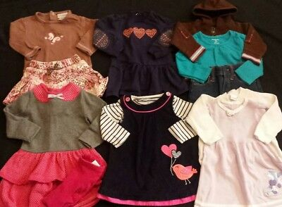 Baby Girl Size 12 months Mixed Fall & Winter Clothing Lot * Dresses *