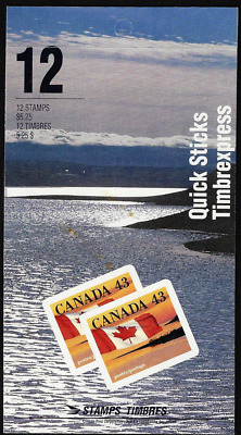 Canada Stamps - Booklet Pane of 12 - Flag over Shoreline #1389a (BK158) - MNH